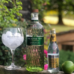 River Test Gin, 2020 winners at the World Gin Awards, available on Barbury Hill