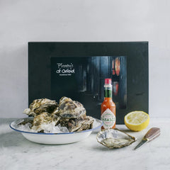 Oyster Lovers Hamper with Tobasco, lemon and oyster shucker, available on Barbury Hill