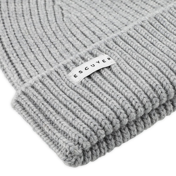 Ribbed Merino beanie - Grey