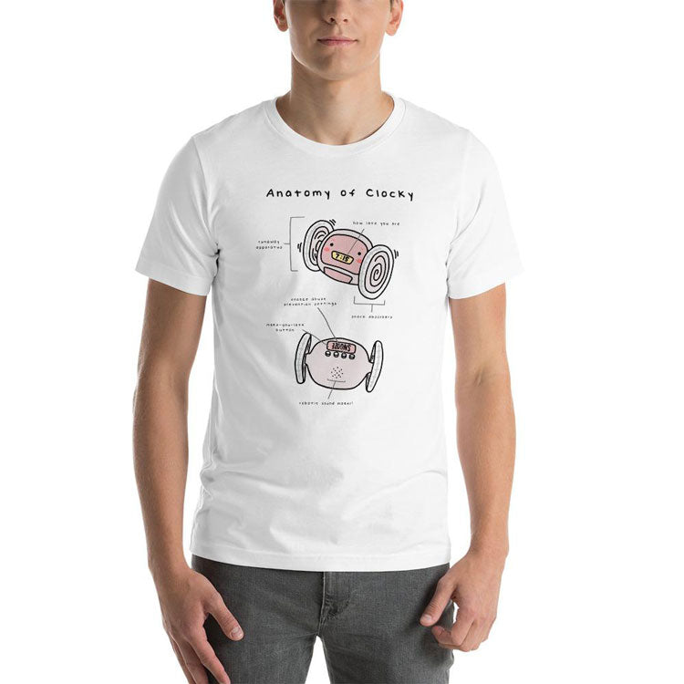 Clocky Anatomy Graphic Tee