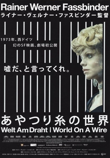 WORLD ON A WIRE B5 CHIRASHI VINTAGE MOVIE POSTER