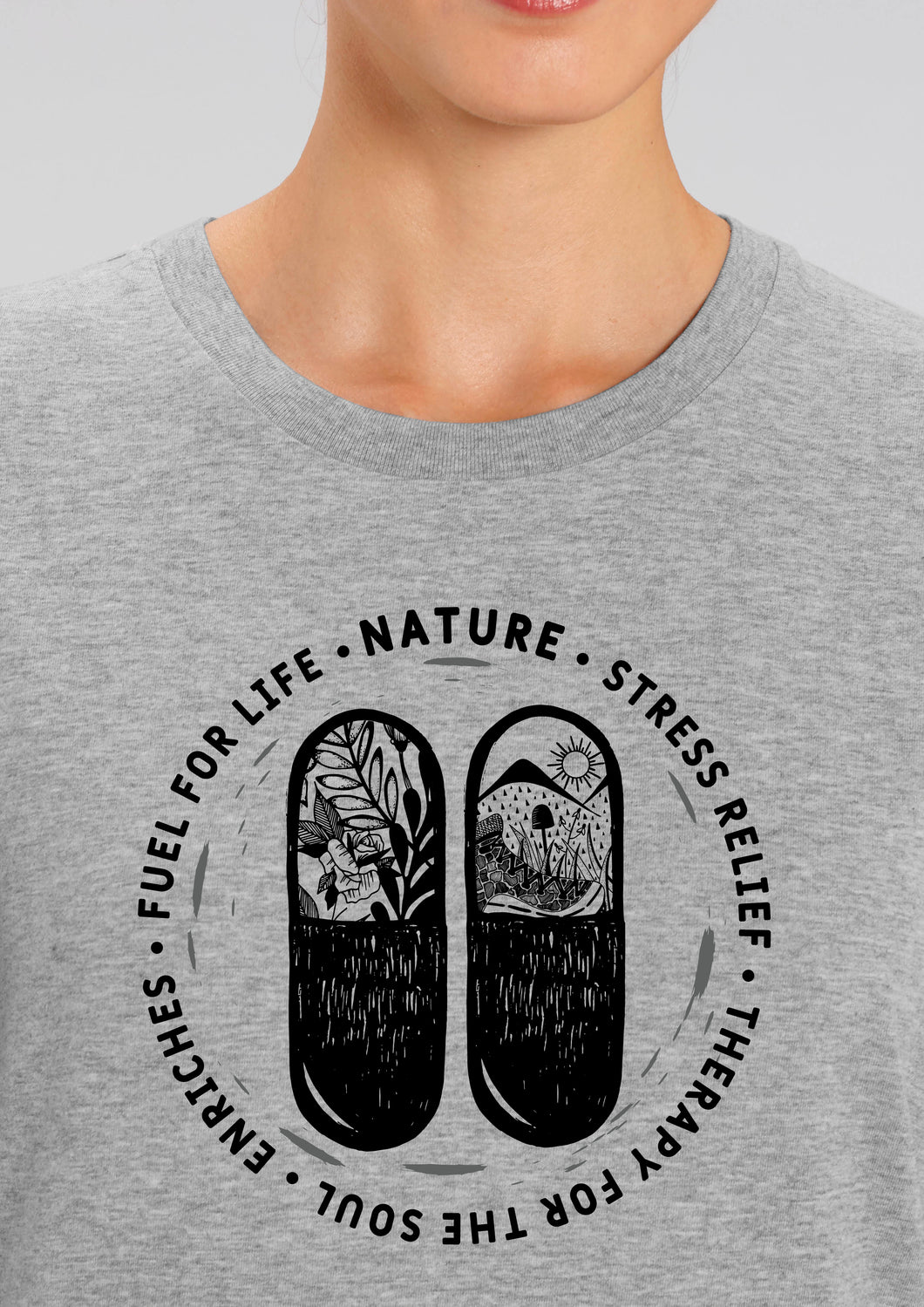 Natures Medicine in Heather Grey