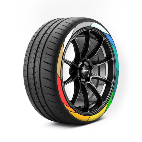Custom Coloured Tyre Stickers - Tyre Wall Stickers