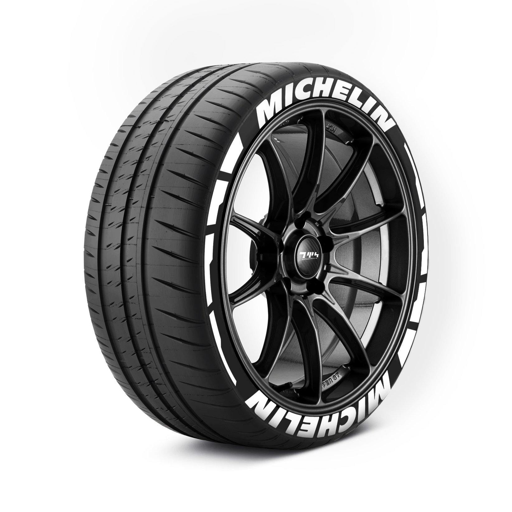 MICHELIN Tyre Stickers with flares - Tyre Wall Stickers
