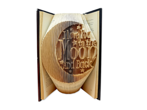 Love you to the moon and back - Book folding pattern
