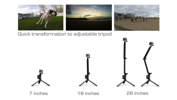Omnipole: 3 in 1 Multi-functional Extension Pole