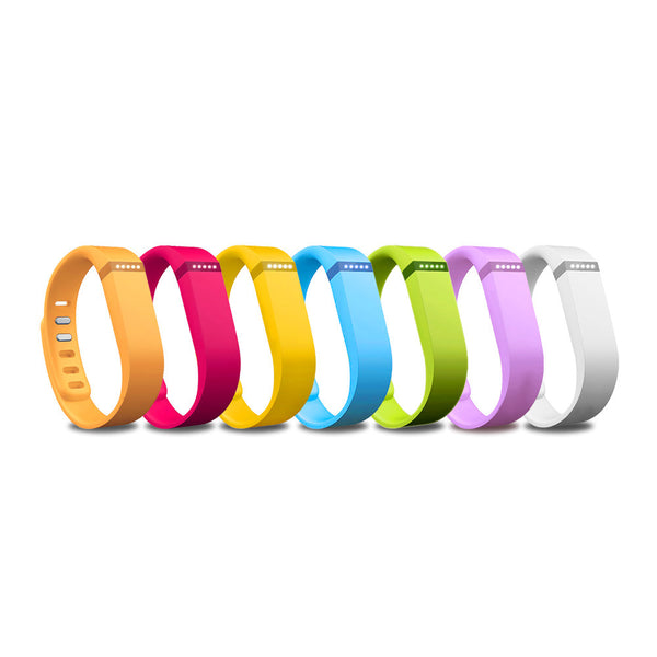 Rainbow Pack Accessory Wristband with Clasps for Fitbit Flex Activity and Sleep Tracker