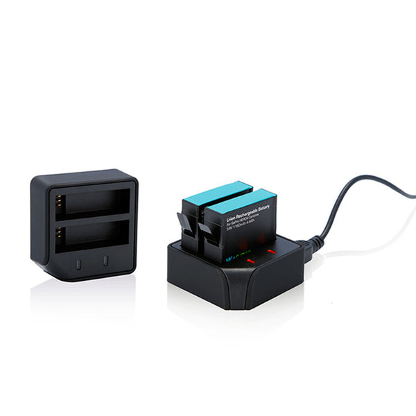 Dual Battery Charger and Battery Pack for GoPro HERO4