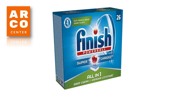 Detergent vase pentru masina de spalat Finish All in One Lemon, 26 tablete