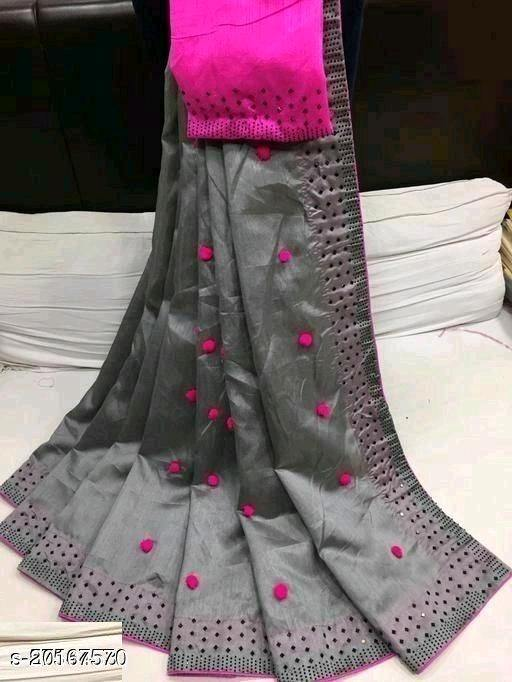 Trendy Cotton Silk Attractive Sarees - SolutionQuick