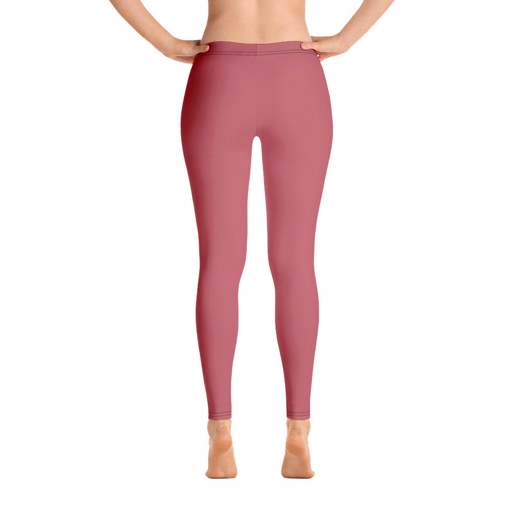 High Wasted Pink Leggings with Pockets Yoga Pants for Women Workout Tummy Control