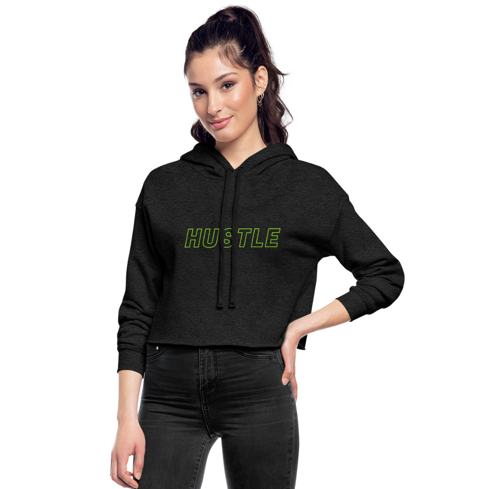 Customizable Women's Cropped Hoodie - deep heather