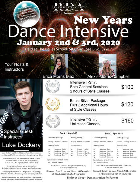 New Years Dance Intensive - Platinum Level
