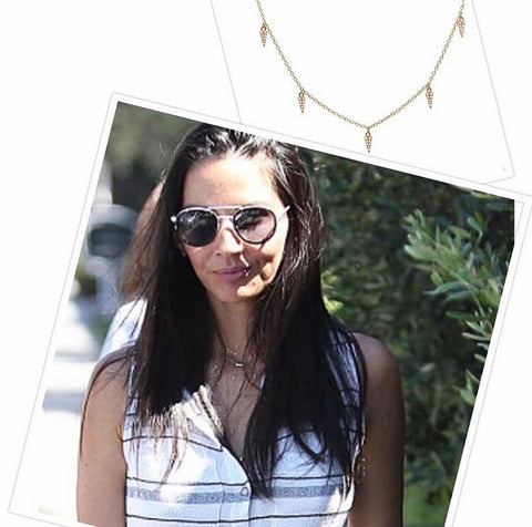 Olivia Munn, Mini Daggers Necklace