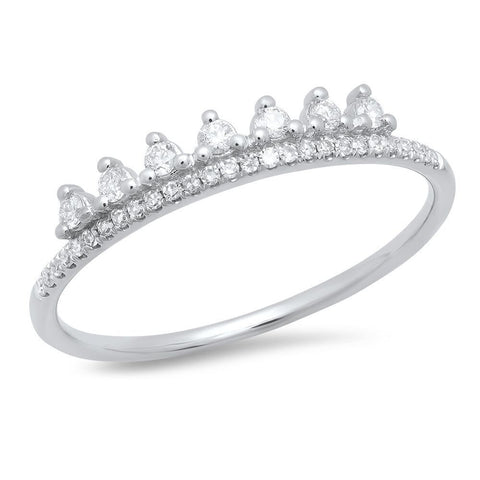 delicate princess diamond band 14K white gold sachi jewelry