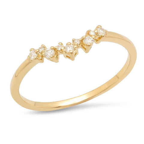 curved diamond prong band 14k delicate dainty sachi jewelry stacking ring