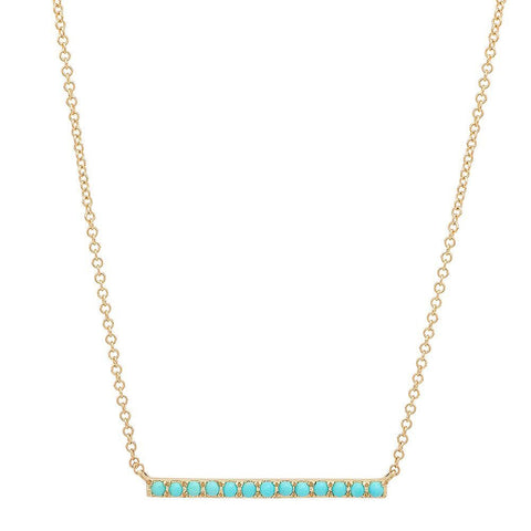 Large Turquoise Bar Necklace