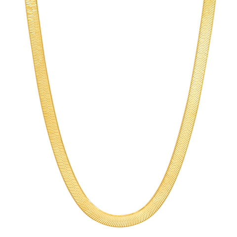 14k gold herringbone necklace Sachi fine jewelry