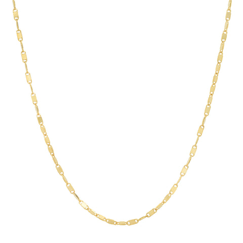 14K gold solid gold mirror chain layer sachi necklace