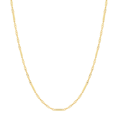 14K gold singapore chain layer sachi necklace delicate