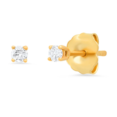 Sachi jewelry 14K gold diamond stud earrings classic sold-as-a-single