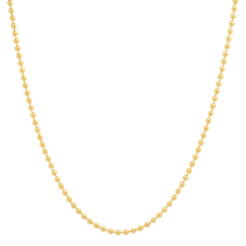 14K solid gold ball chain layer Sachi jewelry