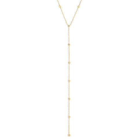 14K gold Sachi jewelry diamonds by the yard lariat sexy