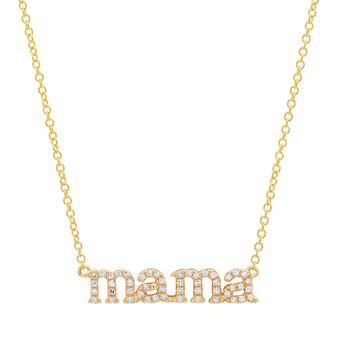 14K gold diamond mama necklace sweet Sachi jewelry