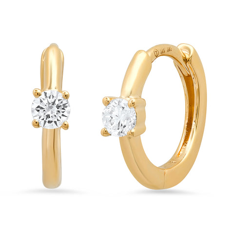 14K Diamond Stud Huggies Sachi Fine Jewelry sophisticated