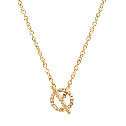 Sachi 14K Open Circle Diamond Lariat