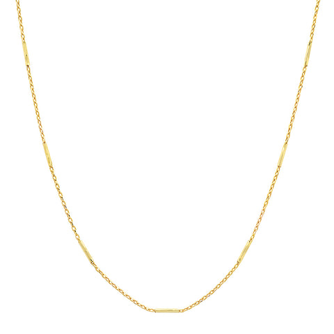 14K Sachi fine jewelry Singapore barrel gold chain necklace layer