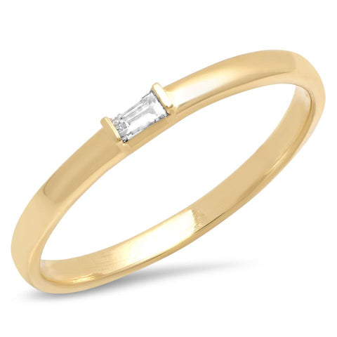 baguette classic simple 14k gold band delicate dainty sachi jewelry
