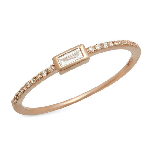 baguette bezel diamond ring sachi delicate dainty 14K gold jewelry