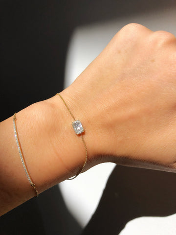 East West Baguette Diamond Bracelet