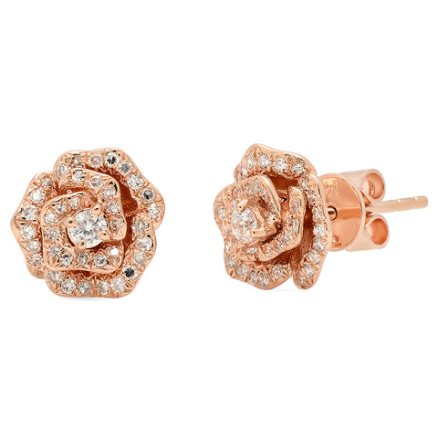 Rose Diamond Studs