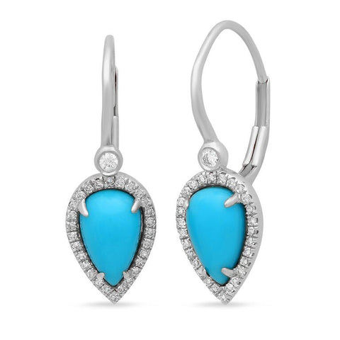 Turquoise Pear Drops