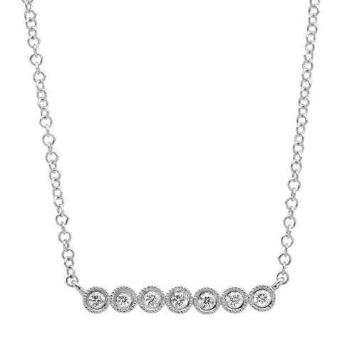 7 Bezel Diamond Necklace