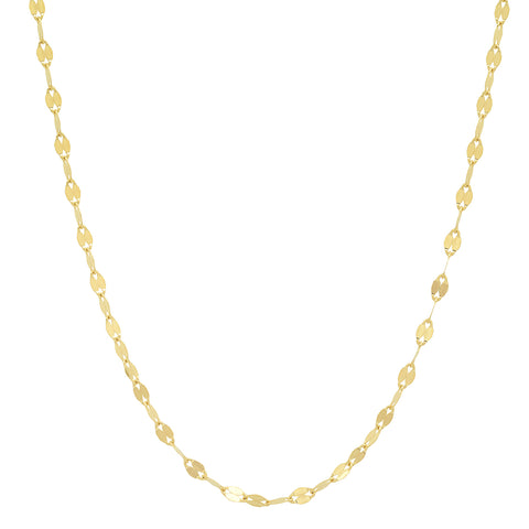 14K gold heavy twisted mirror chain stacking sachi jewelry necklace