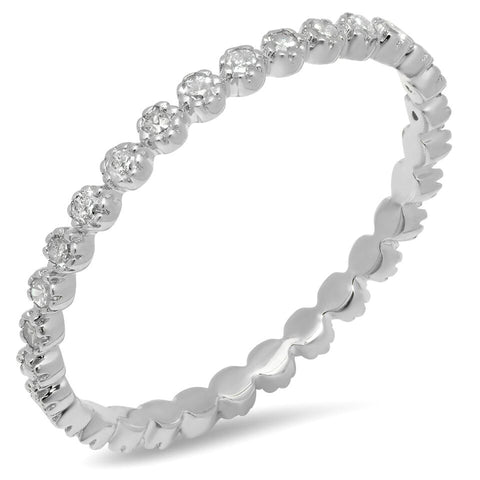 Sachi Petite Pronged White Gold Diamond Band