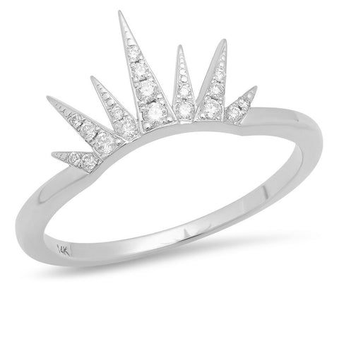 spiky diamond crown ring jamie chung delicate dainty sachi fine 14k gold jewelry