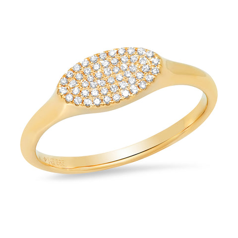 14K diamond micropave oval ring Sachi jewelry