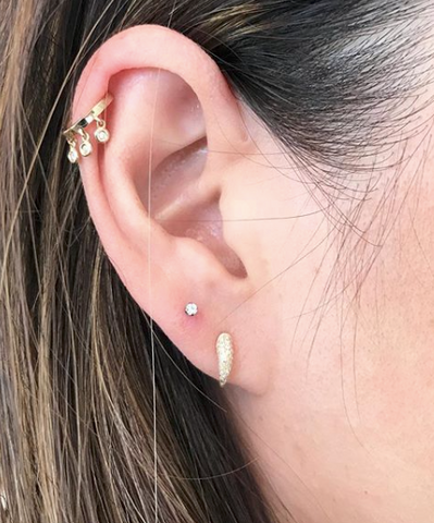Mini Claw Pave Diamond Studs