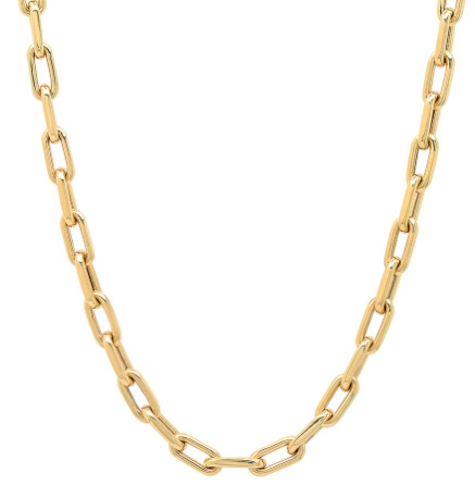 14K gold open link necklace sachi fine jewelry layering