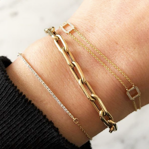 14K gold open link bracelet sachi fine jewelry stacking