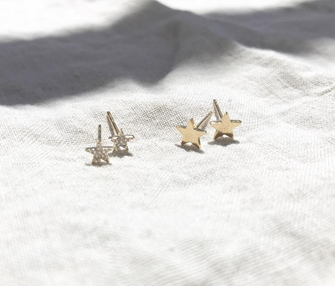 Mini Micro Diamond Star Studs