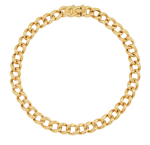 14K gold cuban chain link bracelet sachi jewelry