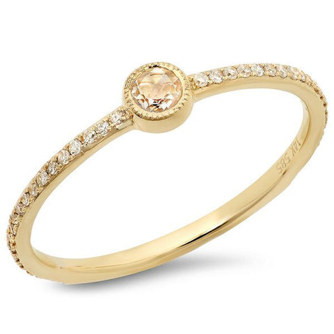 Rose Cut Bezel Ring
