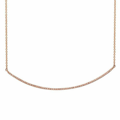 delicate dainty micro curve diamond necklace 14K rose gold sachi jewelry