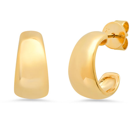 14K gold chubby gold hoops trendy Sachi fine jewelry