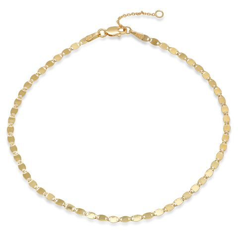 valentine dainty delicate anklet 14K yellow gold sachi jewelry